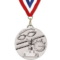 Target50 Swimming Medal with RWB</br>AM1013R.02